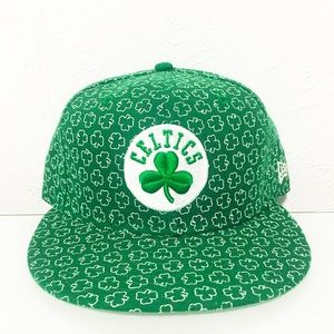 RARE NWOT New Era Boston Celtics 59Fifty Hat 7 3/8